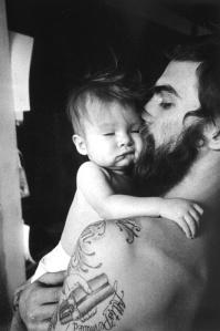 beard and baby